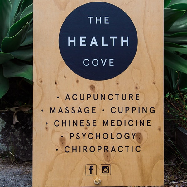 The Health Cove New Brighton Sign